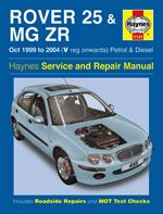 Rover 25 & Mg Zr 1999-2004 Manual
