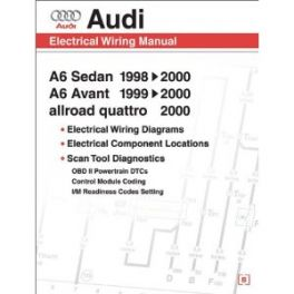 audi a6 electrical wiring manual 1998 2000 motoring. Black Bedroom Furniture Sets. Home Design Ideas